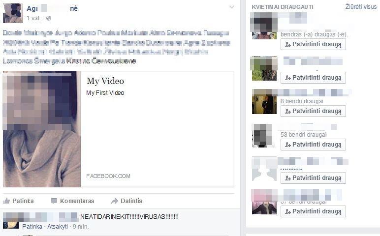 Virusas per privatu pokalbi facebooke