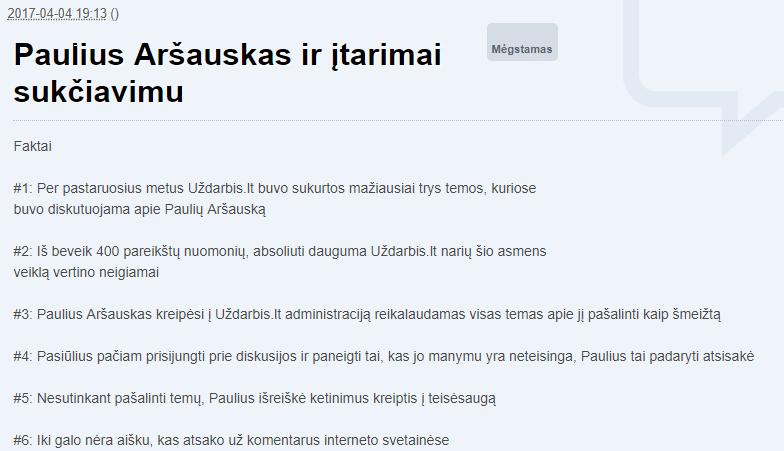 paulius_arsauskas_itarimai_sukciavimu